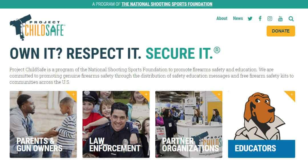 ChildSafe website snapshot.