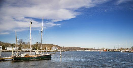 View of Mystic river, Connecticut