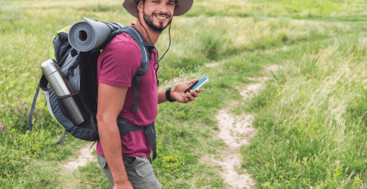 man using one of the best backpacks for outdoor trips
