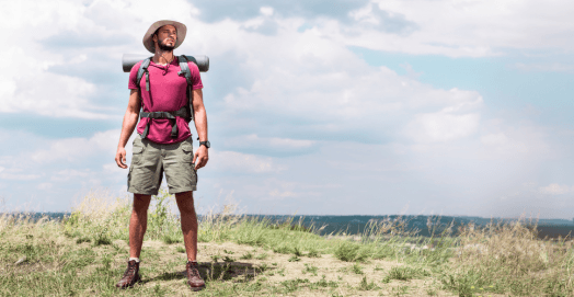man standing best hiking shoes