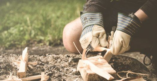 building a fire for outdoor survival