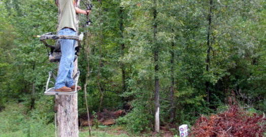 man on tree stand