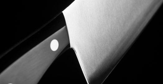 a clean and sharp cleaver knife