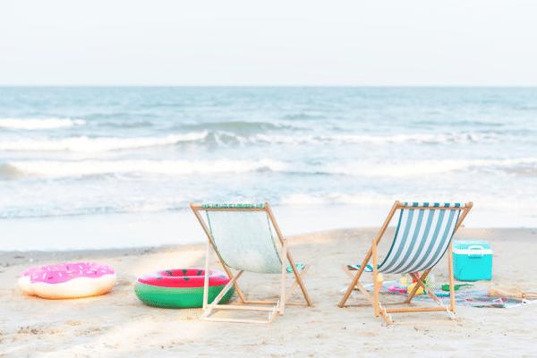 cooler in a beach