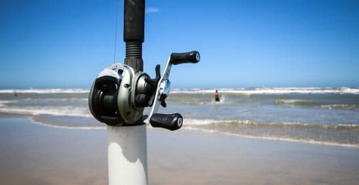 a baitcasting reel used for surf fishing