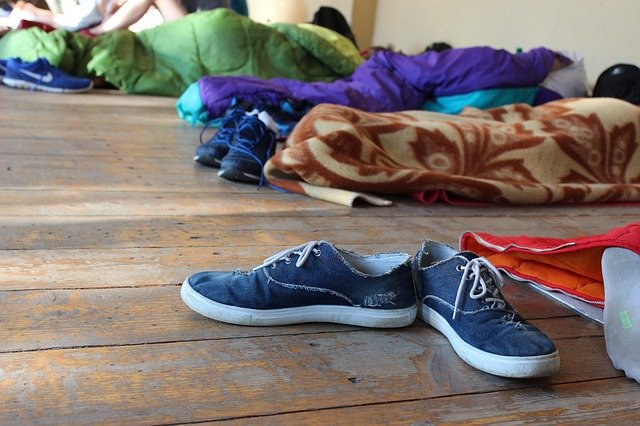 shoes-sleeping-bag-youth